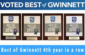 The Gwinnett Magazine awarded Peach Cleaning Services the prize of The best of Gwinnett
